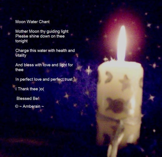 Full Moon Water Tonic Blessing Ritual
